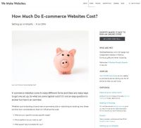How Much do eCommerce Websites Cost?