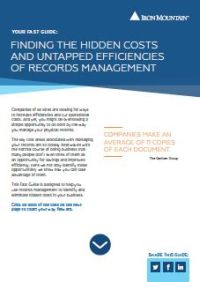 Finding the Hidden Costs and Untapped Efficiencies of Records Management