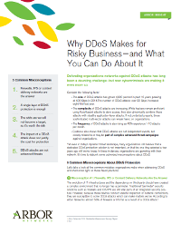 Why DDoS makes for Risky Business