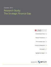 The Strategic Finance Gap