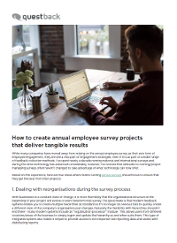 How to Create Annual Employee Survey Projects that Deliver Tangible Results
