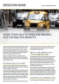 More than Half of SMEs are Missing Out on R&D Tax Benefits