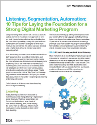 10 Tips for a Strong Digital Marketing Programme