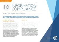 A Case for Compliance Training