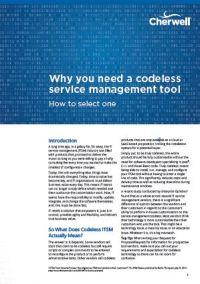 Warum Sie ein codefreies Service Management Tool benötigen