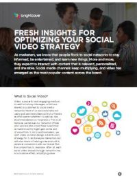 Neue Erkenntnisse hinsichtlich der Optimierung Ihrer Social Video Strategie