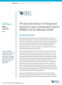 The Business Value of Integrated Systems