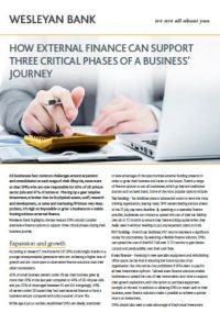 How External Finance Can Support 3 Critical Phases of a Business' Journey