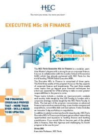 Executive MSc in Finance