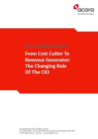 From Cost Cutter to Revenue Generator: The Changing Role of the CIO